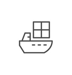 ship delivery line outline icon vector image