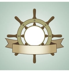 Ship Helm Background vector image