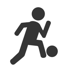 soccer player football icon vector image