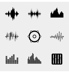 Soundwave music icons vector image