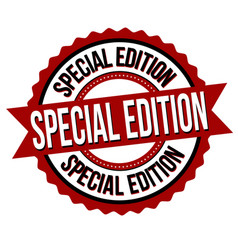 special edition label or sticker vector image