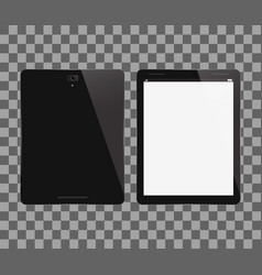 Tablet pc front and back view vector
