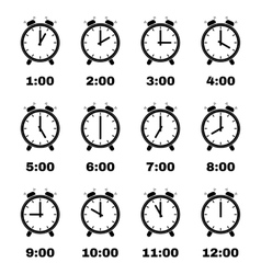 The Alarm Clock icon alarm clock symbol Set vector