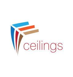 The logo of the ceilings floors vector