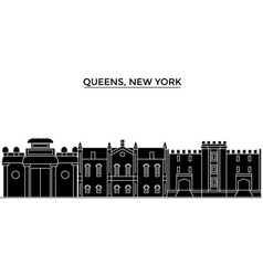 usa queens new york architecture city vector image