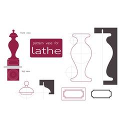 vase lathe vector image