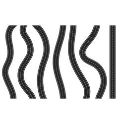 vertical asphalt road vector image