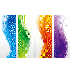 vertical banners background set vector image
