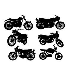 vintage motorbike silhouette vector image