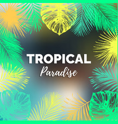 vintage tropical paradise vector image