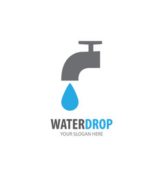 water tap logo for business company simple water vector image