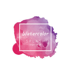 watercolor splash logo idea vector image