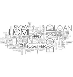 What you need to know about home loans text word vector