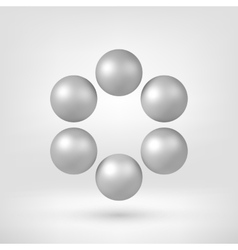 White Abstract 3D Shape vector