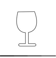 wine glasses icon design vector image