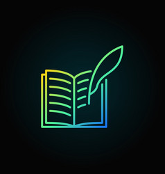 writing a book colorful icon vector image
