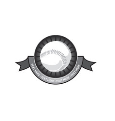 baseball emblem retro vector image