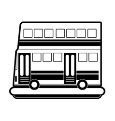 double decker bus sideview icon image vector image