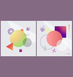 geometric shapes collection on vector image