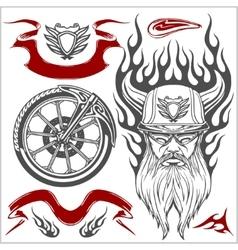 Motorcycle Elements Set vector image