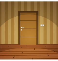 Room With Door - Yellow vector image