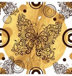 Seamless pattern with vintage openwork butterflies vector image vector image