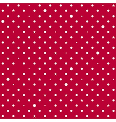 Strawberry Red White Star Polka Dots Background vector image vector image
