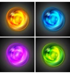 Bright glowing circles vector image vector image