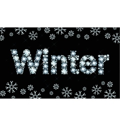Diamond word winter vector image