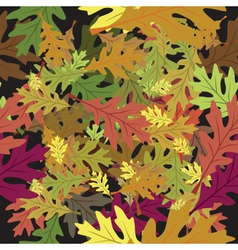 fallen leaves vector image vector image