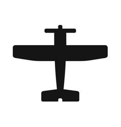 plane black icon vector image vector image