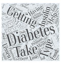 Preventing Diabetes after having Gestational vector image