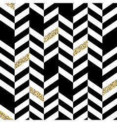 Seamless Chevron Pattern with Glittering Gold vector image