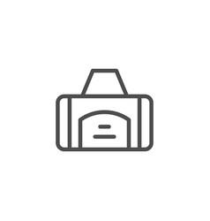 sport bag line icon vector image