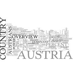 an overview of australia for travelers text word vector image