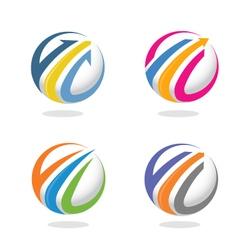 Arrow and finance marketing logo concept vector