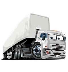 Cartoon Semi Truck vector image