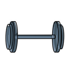 dumbbell weight fitness equipment design vector image