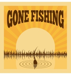 Fishing poster vector image