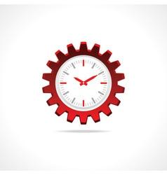 Gear clock icon vector