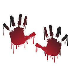 Handprint vector image