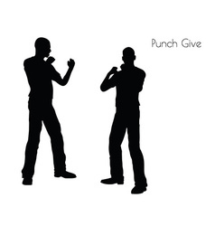 Punch give pose on white background vector