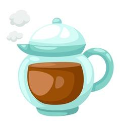 Teapot of tea vector