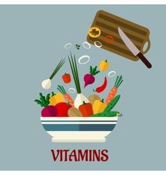 Cooking salad flat design vector image vector image