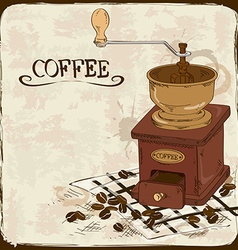 with coffee grinder vector image