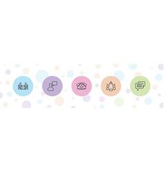 5 talk icons vector