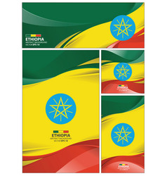 abstract ethiopia flag background vector image