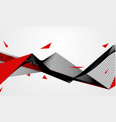 abstract line red black background concept vector image