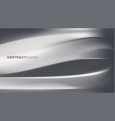abstract trendy metal background with strip curve vector image