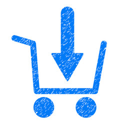 Add to basket icon grunge watermark vector
